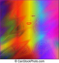 kleur, regenboog, abstract, achtergrond