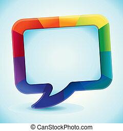 kleur, regenboog, abstract, vector, achtergrond