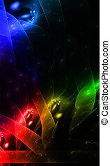 kleur, regenboog, effect, achtergrond, creatief