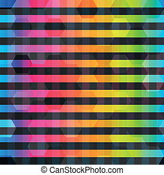 kleur, regenboog, lijnen, seamless, model