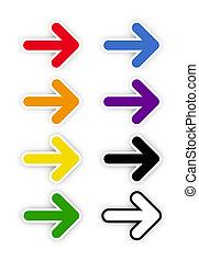 kleur, regenboog, pijl
