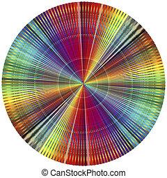 kleur, regenboog, wiel