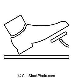 kleur, rem, black , voet, illustratie, dienst, voortvarend, schets, pictogram, pedaal, gas, concept, auto