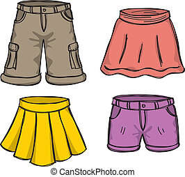 kleur, rokjes, broek