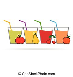 kleur, sap, fruit, vector