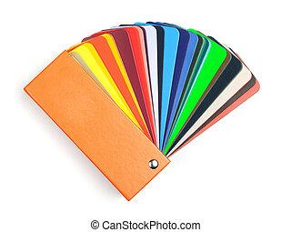 kleur, schub, boek