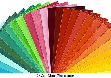 kleur, schub, cutout