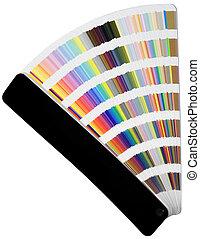 kleur, schub, diagrammen