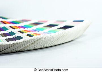 kleur, schub