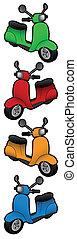 kleur, scooter
