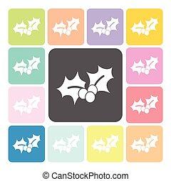 kleur, set, vector, illustratie, pictogram