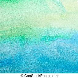 kleur, slagen, schilderij, kunst, watercolor