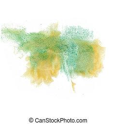 kleur, splatter, vrijstaand, watercolour, watercolor verf, ...