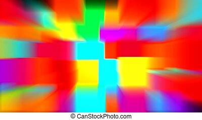 kleur, stralen, blok, model