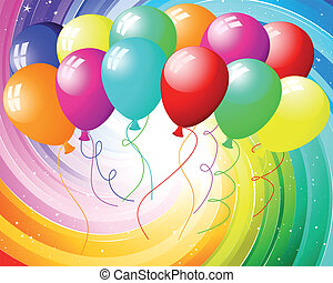 kleur, stralen, feestelijk