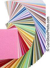 kleur swatches, boek