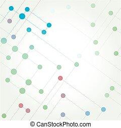 kleur, technologie, netwerk, achtergrond