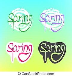 kleur, tekst, lente, achtergrond