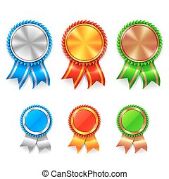 kleur, toewijzen, medailles
