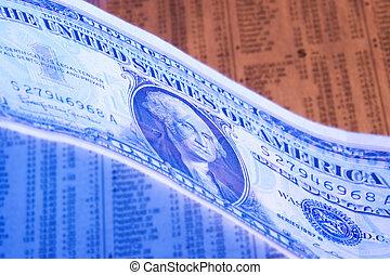 kleur, van, geld