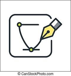 kleur, vector, illustratie, pictogram