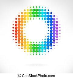 kleur, vector, punt, achtergrond