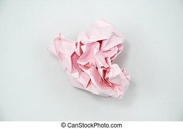 kleur, verfrommeld papier