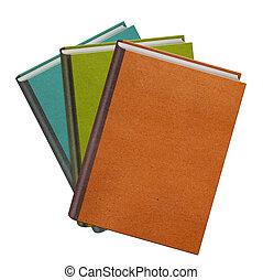 kleur, witte , boekjes , vrijstaand