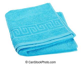 kleur, witte handdoek, vrijstaand