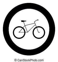 kleur, zwarte cirkel, fiets, pictogram