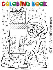 kleuren, claus, topic, boek, kerstman, 8