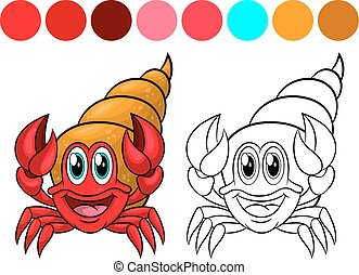 kleuren, krab, book.