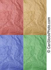 kleuren, papier, 4, textuur