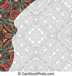 kleuren, volwassenen, boek, plein, uniek, pagina