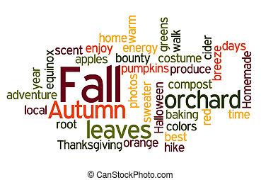 kleuren, wordcloud, herfst