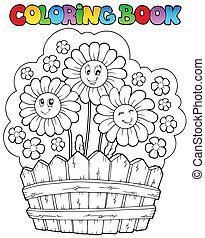 kleurend boek, madeliefjes