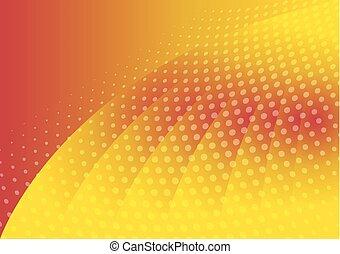 kleurensinaasappel, abstract, achtergrond, dotted