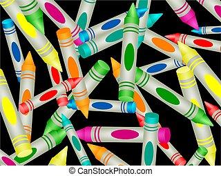 kleurpotlood, behang