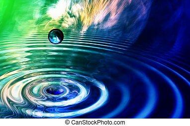 kleurrijke, 3d, gereproduceerd, fractal