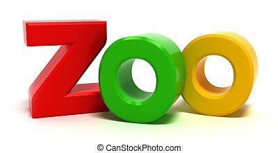 kleurrijke, 3d, woord, brieven, xoo
