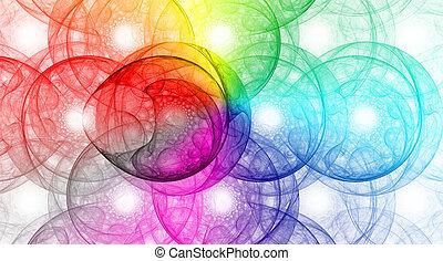 kleurrijke, abstract, achtergrond, ontwerp