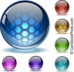 kleurrijke, abstract, bollen