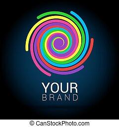 kleurrijke, abstract, creatief, vector, ontwerp, mal, logo