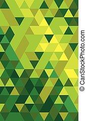 kleurrijke, abstract, driehoek, backgro