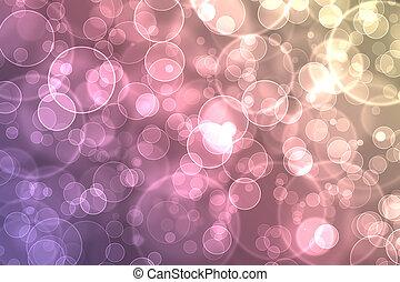 kleurrijke, abstract, effect, bokeh, achtergrond, digitale