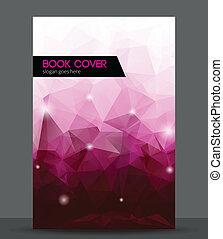 kleurrijke, abstract, geometrisch, dekking, 3d