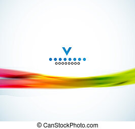 kleurrijke, abstract, golf, ontwerp, mal, smalle