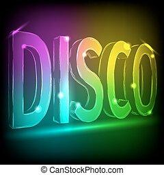 kleurrijke, abstract, lijnen, disco, zwarte achtergrond