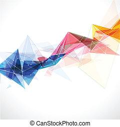 kleurrijke, abstract, lijnen, illustratie, vector, mal, maas