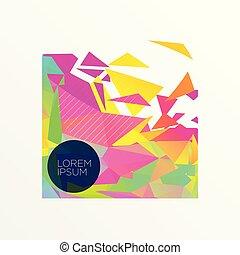 kleurrijke, abstract ontwerp, driehoeken, achtergrond